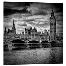 Stampa su vetro acrilico  LONDON Houses of Parliament & Westminster Bridge - Melanie Viola