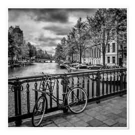 Poster  AMSTERDAM Emperors Canal - Melanie Viola