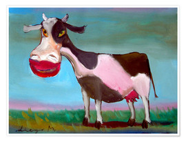Poster Premium Snazzy cow