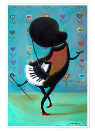 Poster  Dancing Piano - Diego Manuel Rodriguez