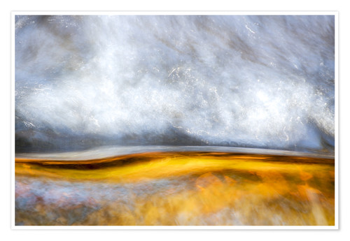 Poster Premium Abstract Silver and Gold