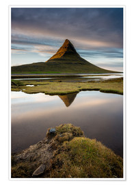Poster Premium Peaceful Sunset Kirkjufell