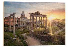 Legno  Sunset at the Roman Forum in Rome, Italy - Jan Christopher Becke