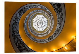 Vetro acrilico  Spiral staircase in the Vatican Museum, Italy - Jan Christopher Becke