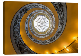 Stampa su tela  Spiral staircase in the Vatican Museum, Italy - Jan Christopher Becke