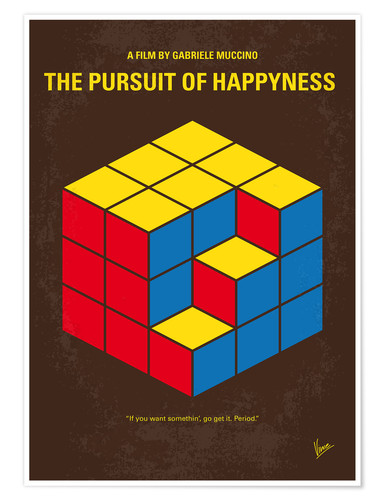 Poster Premium No775 My The Pursuit of Happyness minimal movie poster