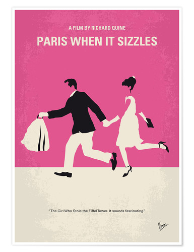 Poster Premium No785 My Paris When it Sizzles minimal movie poster