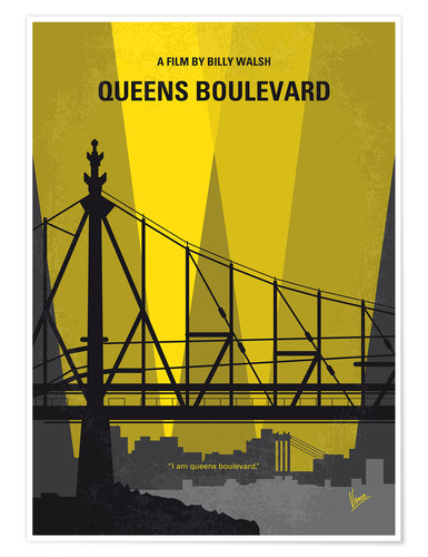 Poster Premium No776 My Queens Boulevard minimal movie poster