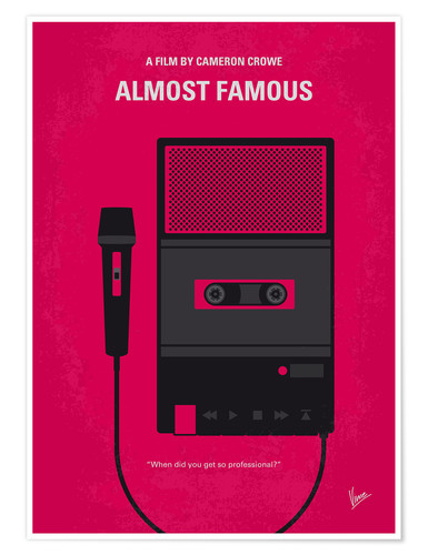 Poster Premium No781 My Almost Famous minimal movie poster