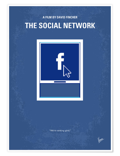 Poster Premium No779 My The Social Network minimal movie poster