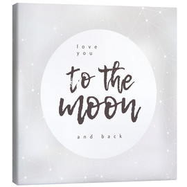 Stampa su tela  To the moon and back - Typobox