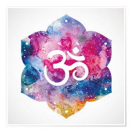 Poster Premium  Namaste watercolors