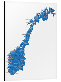 Stampa su alluminio  Map Norway