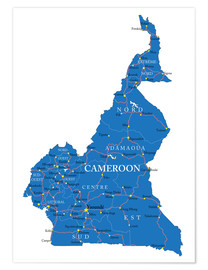 Poster Premium Map Cameroon