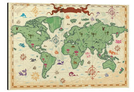 Stampa su alluminio  treasure map - Kidz Collection