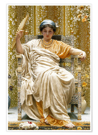 Poster Premium  A Revery- A Look of Sadness on a Restful Face - Albert Joseph Moore