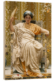 Stampa su legno  A Revery- A Look of Sadness on a Restful Face - Albert Joseph Moore