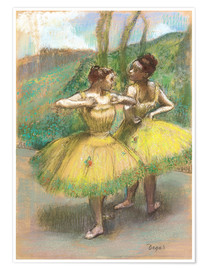 Poster Premium Dancers with Yellow Dresses