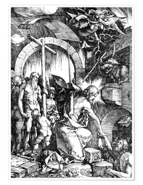 Poster Premium The Harrowing of Hell or Christ in Limbo, from The Large Passion
