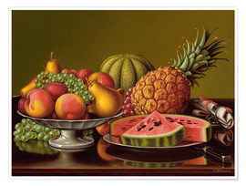 Poster Premium  Still Life with Fruit - Levi Wells Prentice