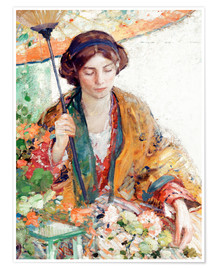 Poster Premium Woman with Parasol