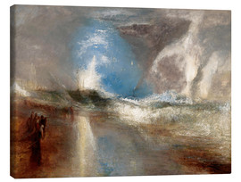 Stampa su tela  Rockets and blue lights warn steamboats before shallows - Joseph Mallord William Turner