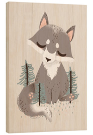 Stampa su legno  Animal Friends - The Wolf - Kanzi Lue