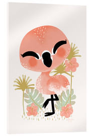 Vetro acrilico  Animal Friends - The Flamingo - Kanzi Lue