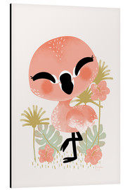 Stampa su alluminio  Animal Friends - The Flamingo - Kanzi Lue
