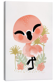 Stampa su tela  Animal Friends - The Flamingo - Kanzi Lue