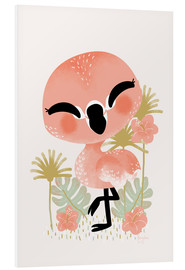 Stampa su schiuma dura  Animal Friends - The Flamingo - Kanzi Lue