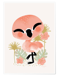 Poster Premium  Animal Friends - The Flamingo - Kanzi Lue