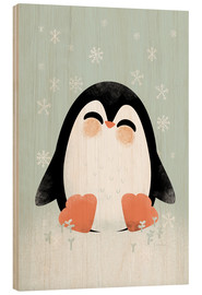 Stampa su legno  Animal Friends - The Penguin - Kanzi Lue