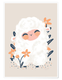 Poster  Animal Friends - The sheep - Kanzi Lue