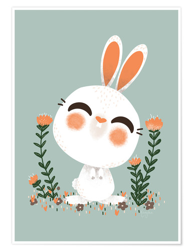Poster Premium Animal Friends - The hare