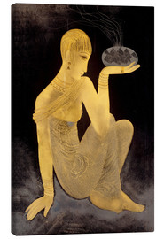 Stampa su tela  Perfume girl with a censer - Jean Dunand