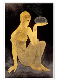 Poster Premium Perfume girl with a censer