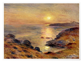 Poster Premium  The Setting of the Sun at Douarnenez - Pierre-Auguste Renoir