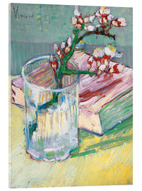 Vetro acrilico  Flowering almond branch in a glass with a book - Vincent van Gogh