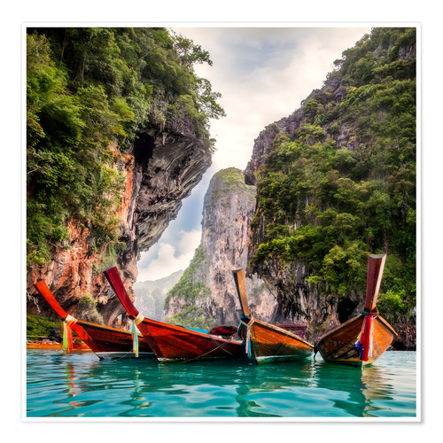 Poster Premium Railay beach in Krabi Thailand