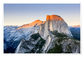 Poster Premium Half Dome at sunset from Glacier Point, Yosemite National Park, California, United States of America
