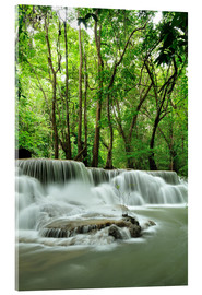Stampa su vetro acrilico  Waterfall in forest of Thailand