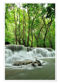 Poster Premium  Waterfall in forest of Thailand