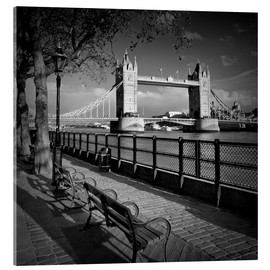Stampa su vetro acrilico  LONDON Tower Bridge - Melanie Viola