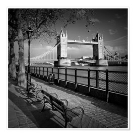 Poster Premium  LONDON Tower Bridge - Melanie Viola