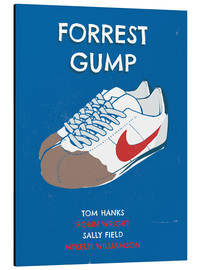 Alluminio Dibond  alternative forrest gump sneakers art - 2ToastDesign