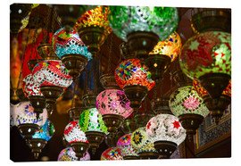 Stampa su tela  Traditional turkish lamps
