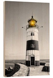 Stampa su legno  Lighthouse with yellow light