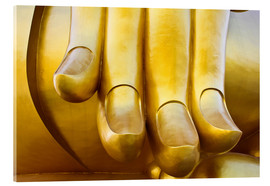 Vetro acrilico  Fingers of the Buddha