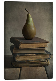 Stampa su tela  Still life with books and pear - Jaroslaw Blaminsky